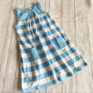 Hanna Andersson blue/white striped dress